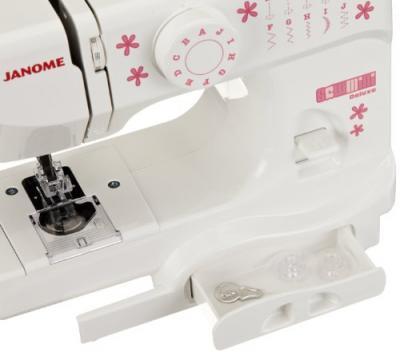 Швейная машина Janome Sew Mini Deluxe - отсек для аксессуаров