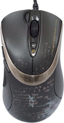 Мышь A4Tech F4 V-Track (черный) - вид сверху