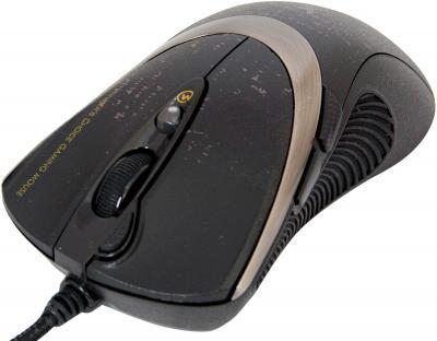 Мышь A4Tech F4 V-Track (черный) - вид спереди