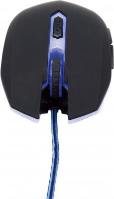 Мышь Gembird MUSG-001-B (черно-синий) - вид спереди