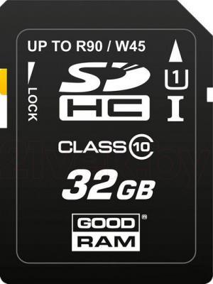 Карта памяти Goodram SDHC UHS-I U1 Class 10 32GB (SDC32GHCUHS1GRR10) - общий вид