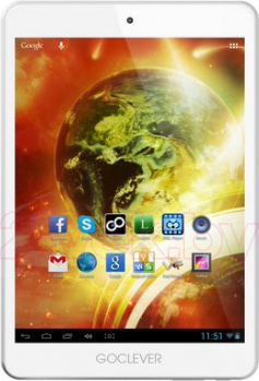Планшет GoClever QUANTUM 785 8GB White (A7821) - фронтальный вид
