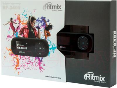 MP3-плеер Ritmix RF-3400 (4GB, черный) - в упаковке