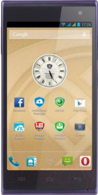 Смартфон Prestigio MultiPhone 5505 Duo (синий) - общий вид