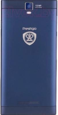 Смартфон Prestigio MultiPhone 5505 Duo (синий) - вид сзади