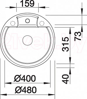 Мойка кухонная Blanco Tarma 45 (519129) - габаритные размеры