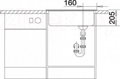Мойка кухонная Blanco Kivo 6 (519166) - монтажные размеры