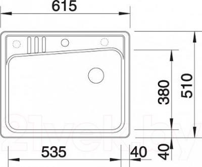Мойка кухонная Blanco Kivo 6 (519168) - габаритные размеры
