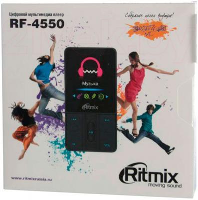 MP3-плеер Ritmix RF-4550 (4Gb, синий) - в упаковке