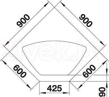 Мойка кухонная Blanco Legra 9E (519180) - габаритные размеры