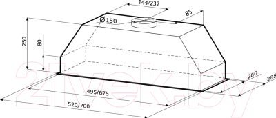 Вытяжка скрытая KRONAsteel Mini 90 Slider (белый)