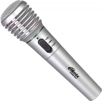 Микрофон Ritmix RWM-100 (титан) - общий вид