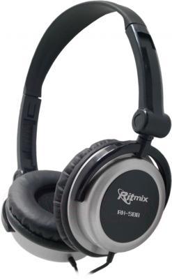 Наушники Ritmix RH-508 (серый) - общий вид