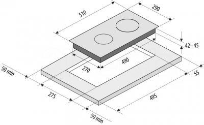 Электрическая варочная панель Fornelli PV 3012 Fresco - схема