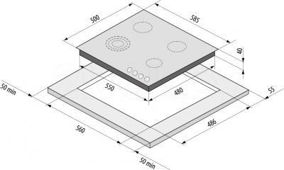 Газовая варочная панель Fornelli PG 60 Favorito IX - схема