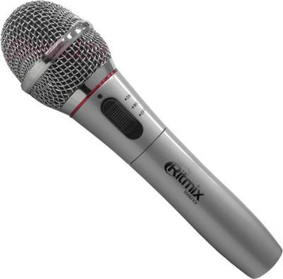 Микрофон Ritmix RWM-101 (титан) - общий вид
