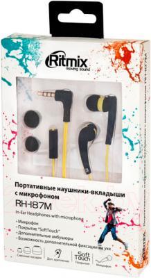 Наушники-гарнитура Ritmix RH-187M (Neon) - в упаковке