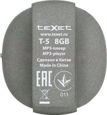 MP3-плеер TeXet T-5 Rock (8Gb, серый) - вид сзади