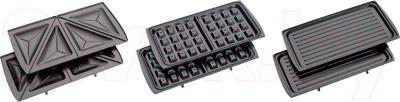 Сэндвичница Clatronic ST/WA 3490 (Black-Inox) - съёмные пластины