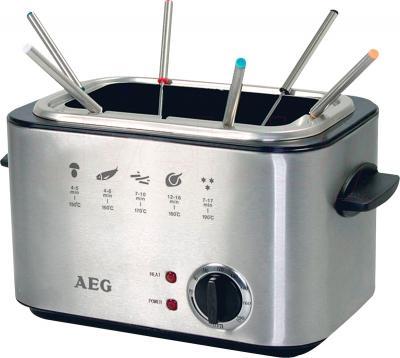 Фондю-фритюрница AEG FFR 5551 (Inox) - приготовление фондю