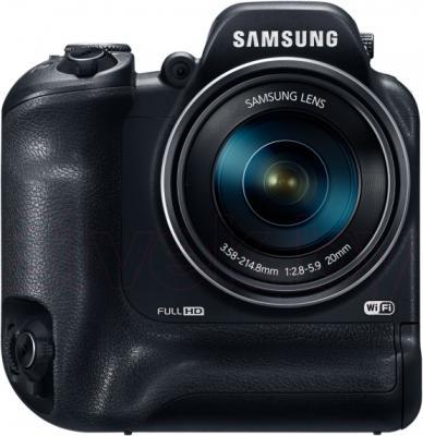 Компактный фотоаппарат Samsung WB2200 (Black) - фронтальный вид