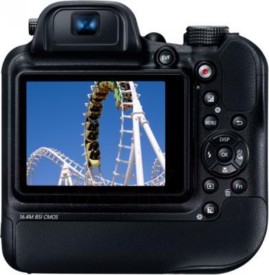 Компактный фотоаппарат Samsung WB2200 (Black) - вид сзади