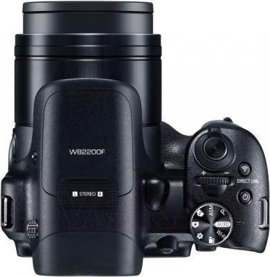 Компактный фотоаппарат Samsung WB2200 (Black) - вид сверху