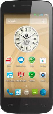 Смартфон Prestigio MultiPhone 5504 Duo (металлик) - общий вид