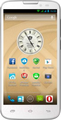 Смартфон Prestigio MultiPhone 5517 Duo (белый) - общий вид