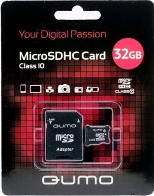 Карта памяти Qumo microSDHC (Class 10) 32GB (QM32GMICSDHC10) - общий вид