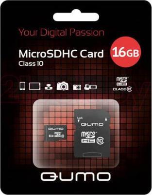 Карта памяти Qumo microSDHC (Class 10) 16GB (QM16GMICSDHC10) - общий вид