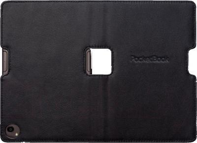 Обложка для электронной книги PocketBook PBPUC-650-BK (черно-коричневый) - в раскрытом виде