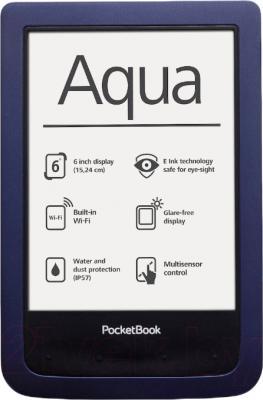 Электронная книга PocketBook Aqua 640 (темно-синий) - общий вид
