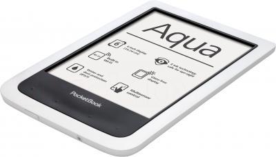 Электронная книга PocketBook Aqua 640 (белый) - вид лежа