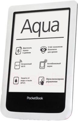 Электронная книга PocketBook Aqua 640 (белый) - общий вид
