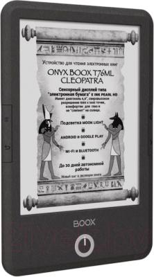 Электронная книга Onyx Boox T76ML Cleopatra (серый металлик) - вполоборота