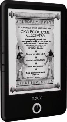 Электронная книга Onyx Boox T76ML Cleopatra (черный) - вполоборота