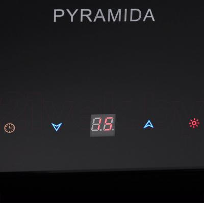 Вытяжка декоративная Pyramida HES 30 (D-600 MM) Black/AJ - сенсорная панель управления