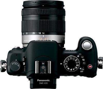 Беззеркальный фотоаппарат Panasonic Lumix DMC-G10KGC-K - вид сверху