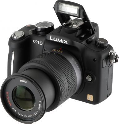 Беззеркальный фотоаппарат Panasonic Lumix DMC-G10KGC-K - общий вид