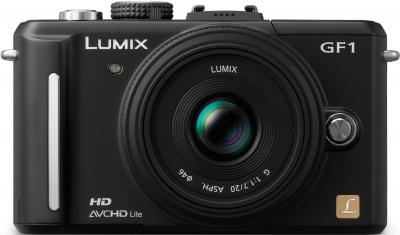 Беззеркальный фотоаппарат Panasonic Lumix DMC-GF1-K - вид спереди