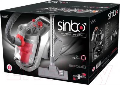 Пылесос Sinbo SVC 3459 (серебристый/бордовый)