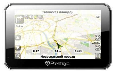 GPS навигатор Prestigio GeoVision 4500BTFM - вид спереди