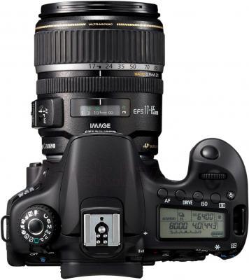 Зеркальный фотоаппарат Canon EOS 60D Body + 17-85mm IS - вид сверху