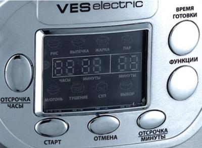 Мультиварка VES SK-A14 - панель управления