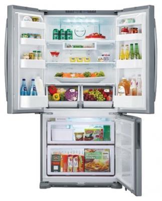 Холодильник с морозильником Samsung RF62UBRS1 - вид спереди