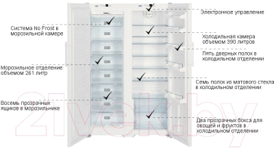 Холодильник с морозильником Liebherr SBS 7212
