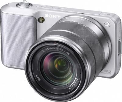Беззеркальный фотоаппарат Sony Alpha NEX-3K Silver - общий вид