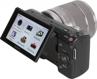 Беззеркальный фотоаппарат Sony Alpha NEX-5D - общий вид со сменным объективом