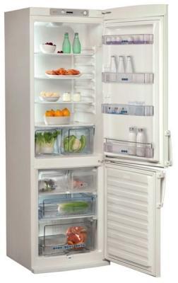 Холодильник с морозильником Whirlpool WBR 3712 W - внутренний вид